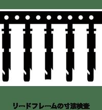 リードフレームの寸法検査